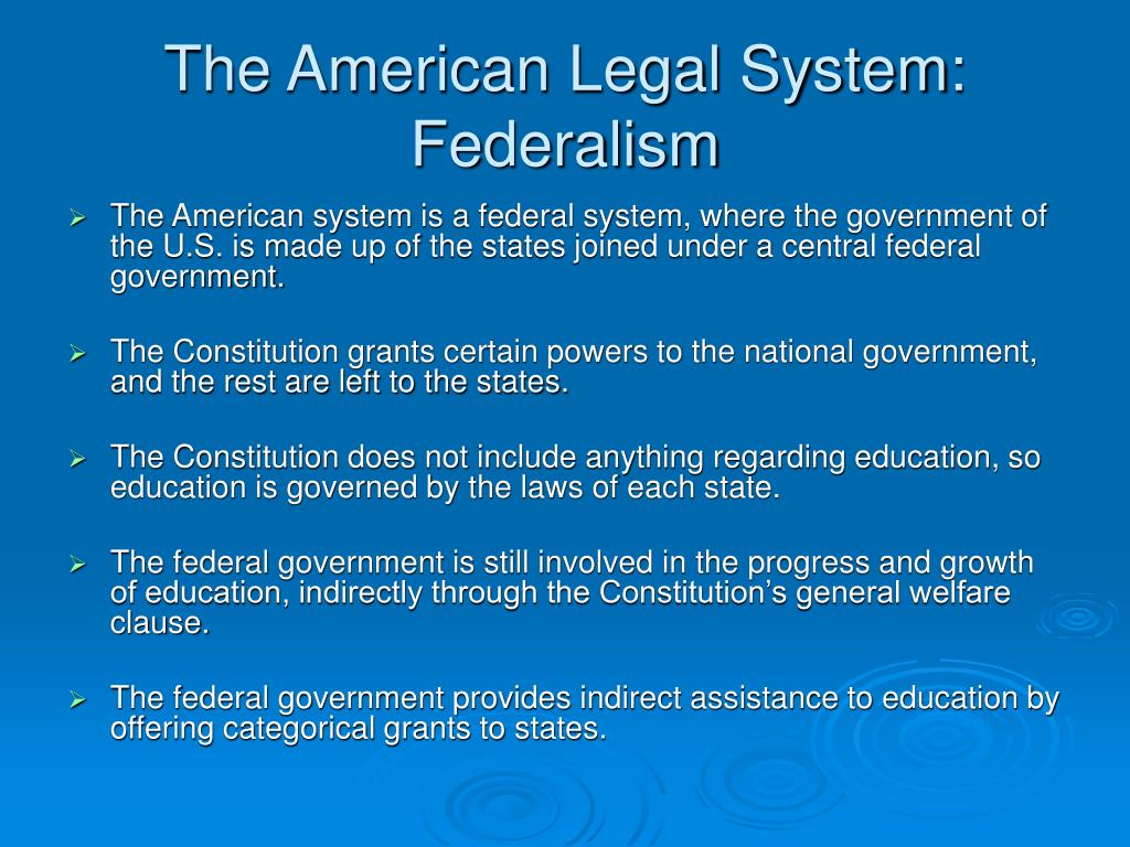 what is american federalism Dual federalism is based on the relatively optimistic belief that a clear division between federal and state authority can, and does, exist this theory states that authority between the two .