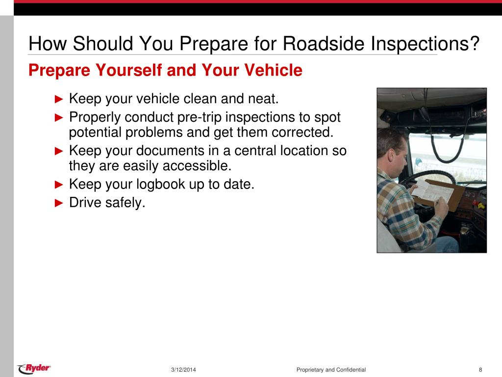 How Should You Prepare for Roadside Inspections?