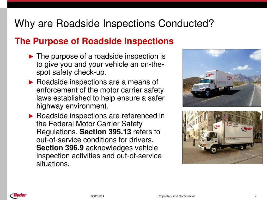 Why are Roadside Inspections Conducted?