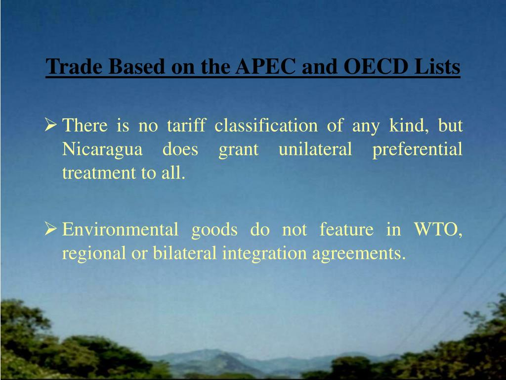 Trade Based on the APEC and OECD Lists