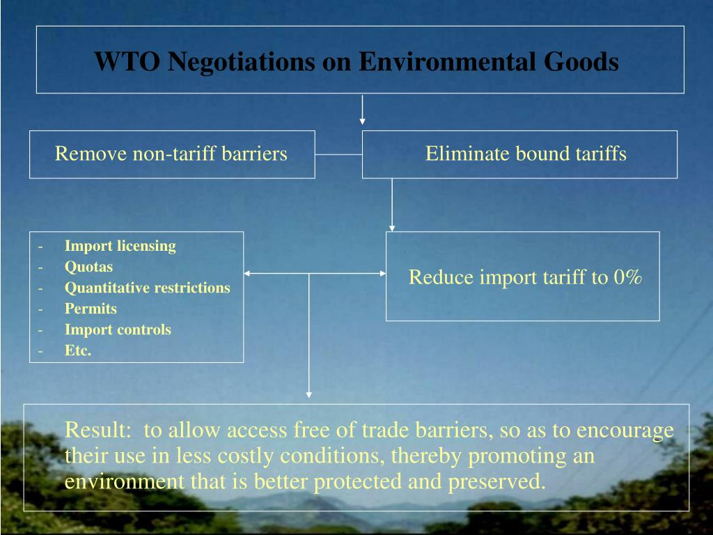 WTO Negotiations on Environmental Goods