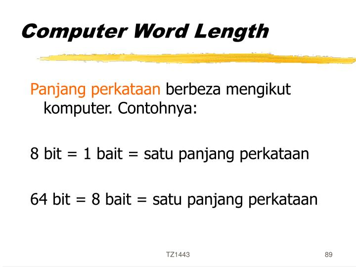 Computer Word Length