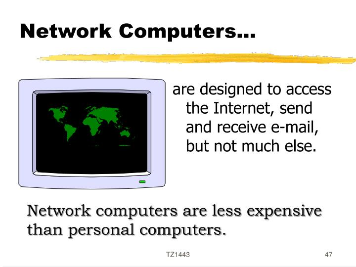 Network Computers…