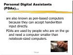 personal digital assistants pdas