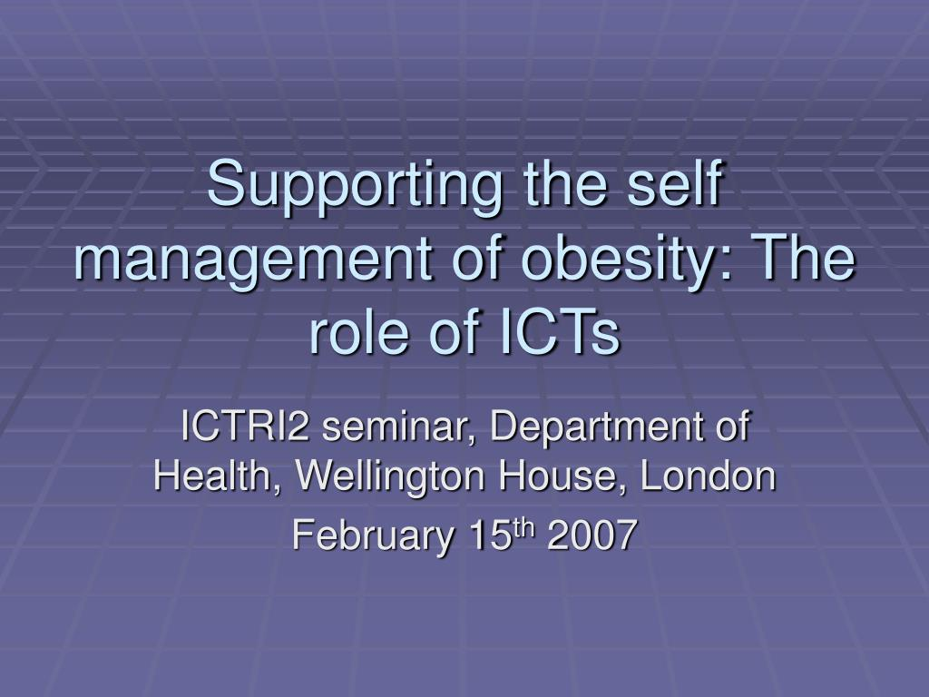 supporting the self management of obesity the role of icts