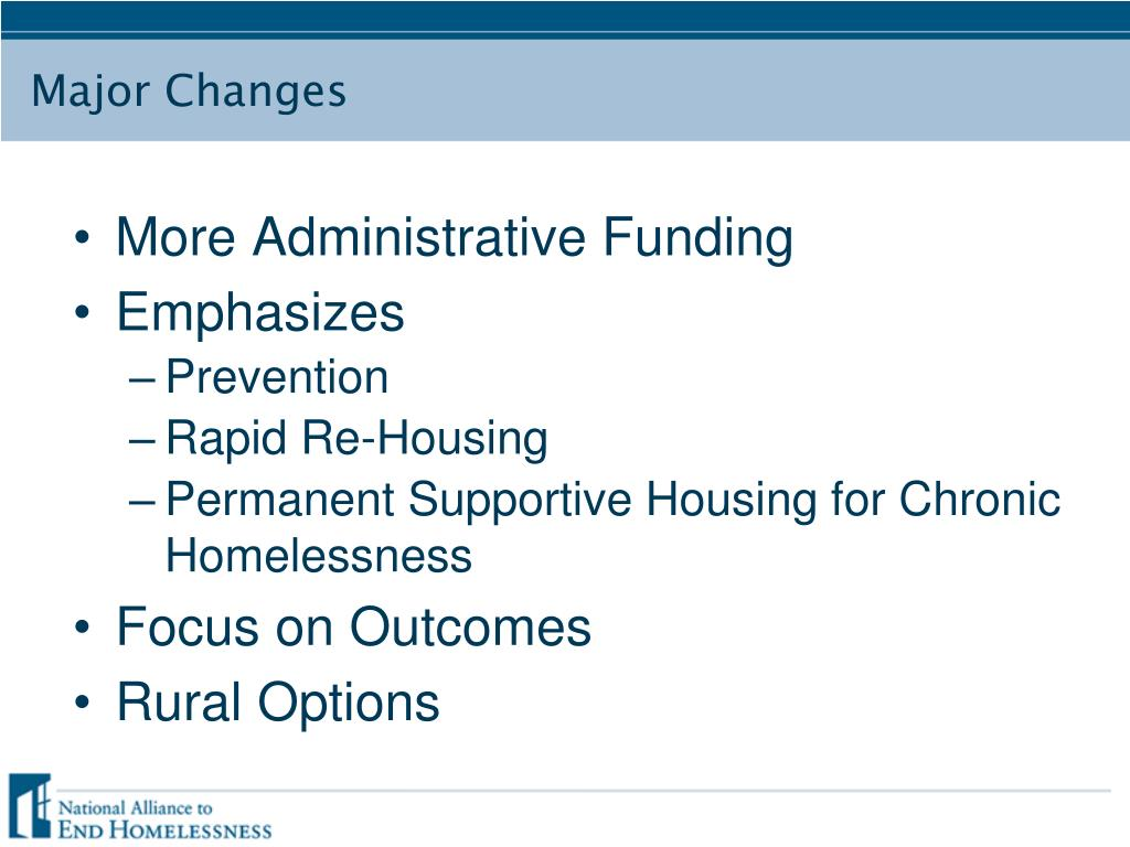 More Administrative Funding