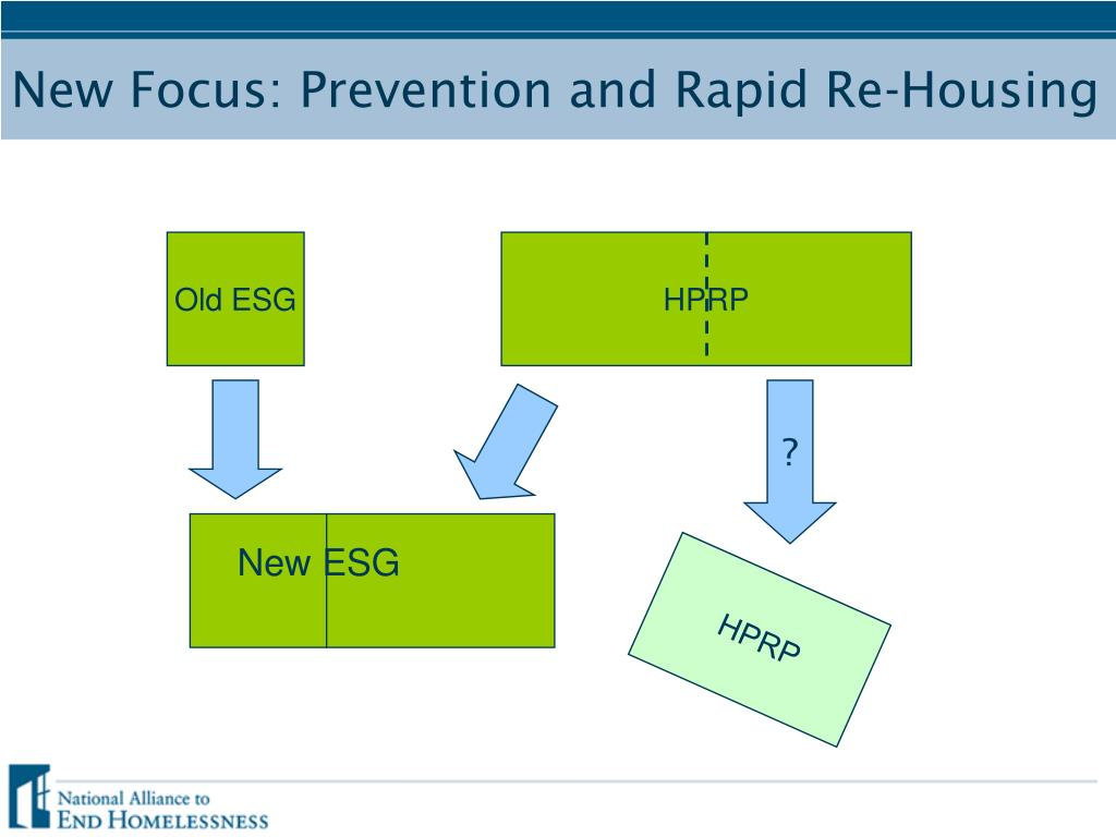 New Focus: Prevention and Rapid Re-Housing