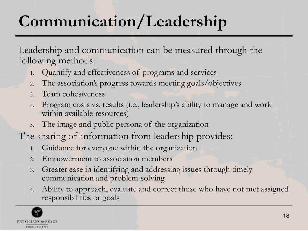 Communication/Leadership