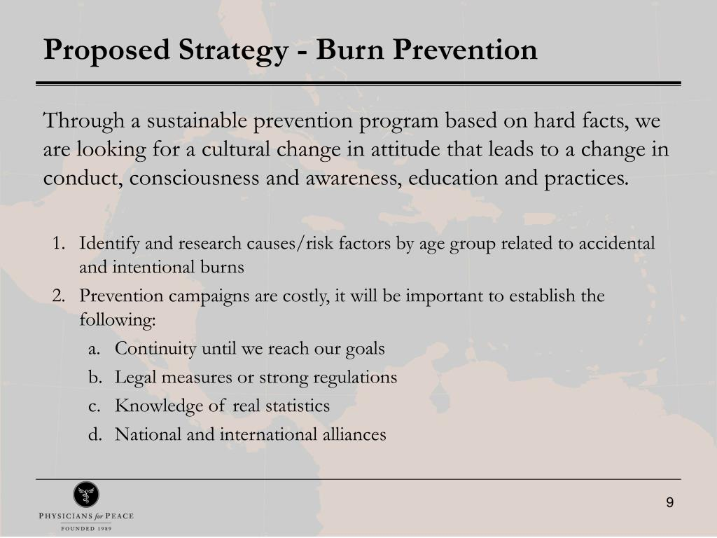 Proposed Strategy - Burn Prevention