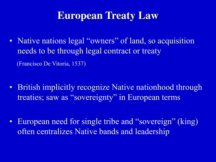 European Treaty Law