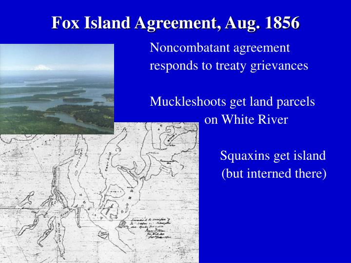 Fox Island Agreement, Aug. 1856
