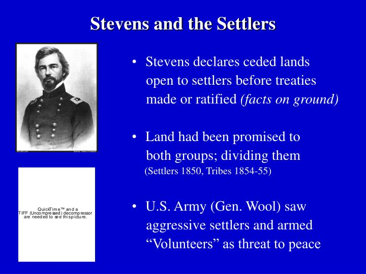 Stevens and the Settlers