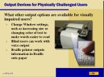 output devices for physically challenged users39