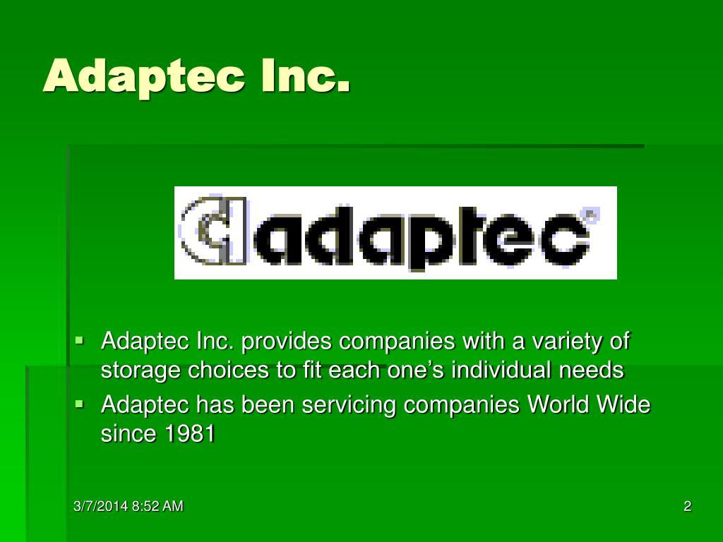 Adaptec Inc.