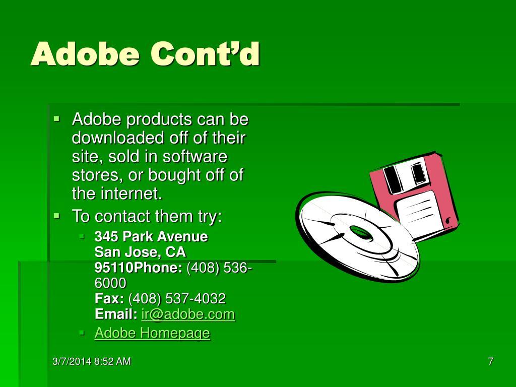 Adobe Cont'd