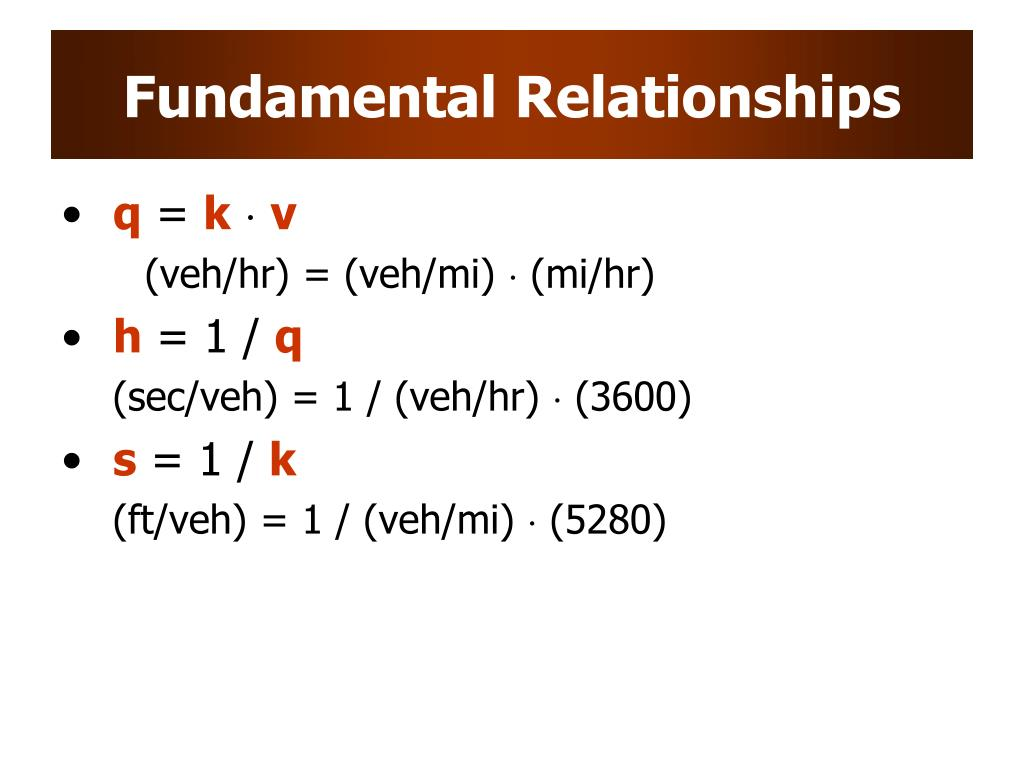 Fundamental Relationships