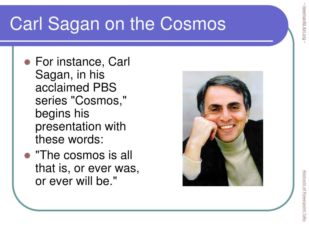 Carl Sagan on the Cosmos