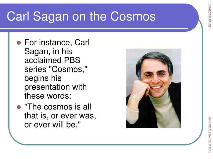 Carl sagan on the cosmos l.jpg