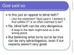 god said so22