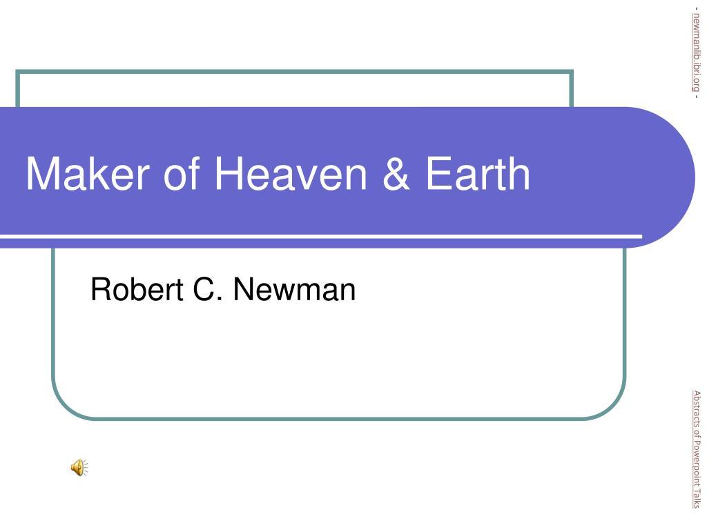 maker of heaven earth