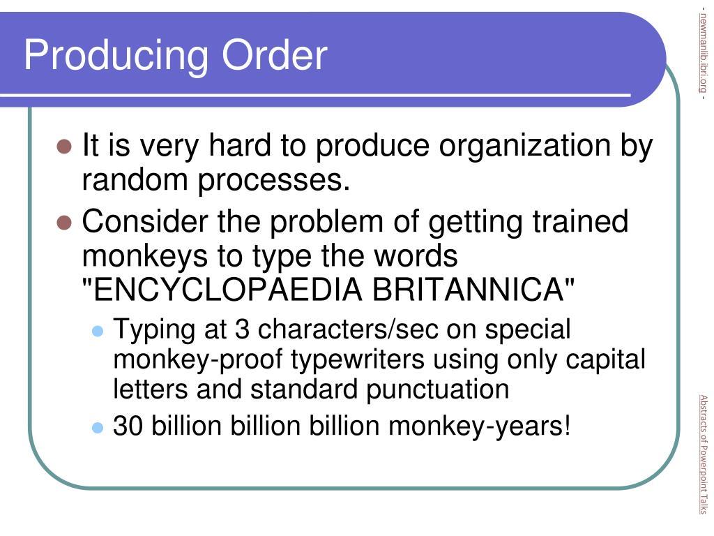 Producing Order