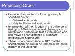 producing order18