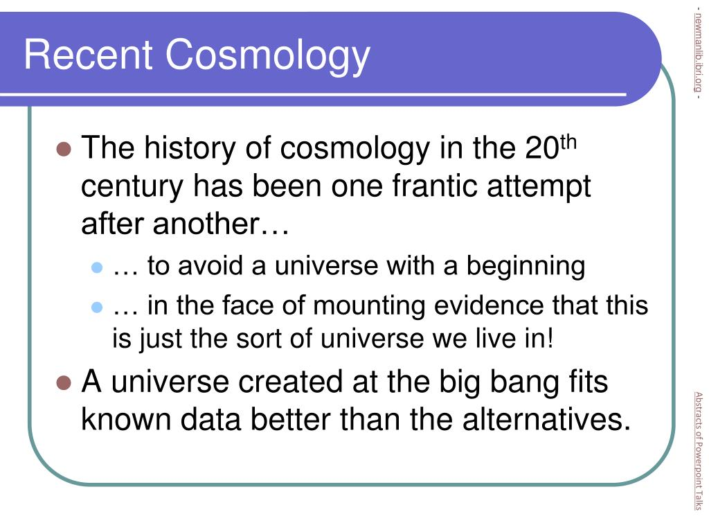 Recent Cosmology