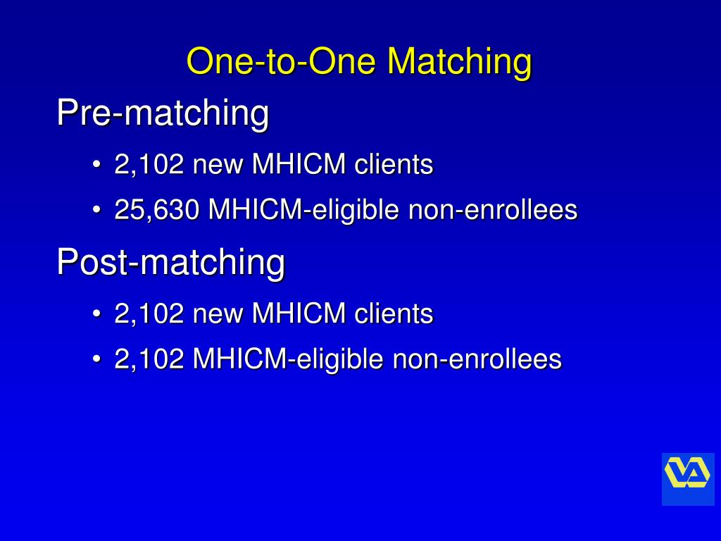 One-to-One Matching