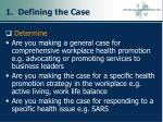 1 defining the case