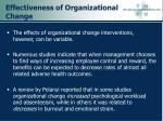 effectiveness of organizational change50