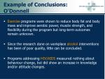 example of conclusions o donnell44