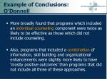 example of conclusions o donnell45