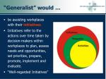 generalist would61