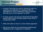 internal project management task
