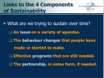 links to the 4 components of sustainability
