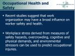 occupational health and safety38