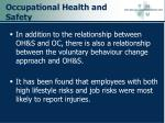 occupational health and safety39