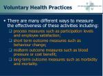voluntary health practices40