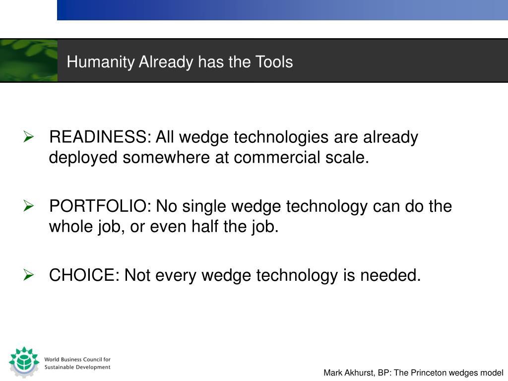 Humanity Already has the Tools