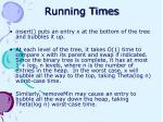 running times21