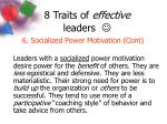 8 traits of effective leaders9