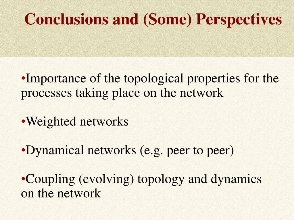 Conclusions and (Some) Perspectives