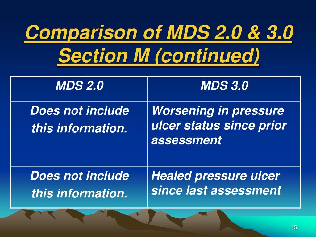 Comparison of MDS 2.0 & 3.0