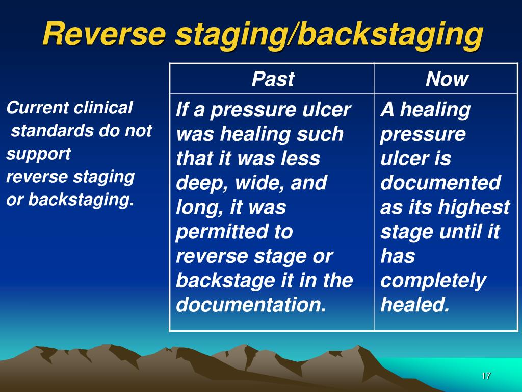 Reverse staging/backstaging
