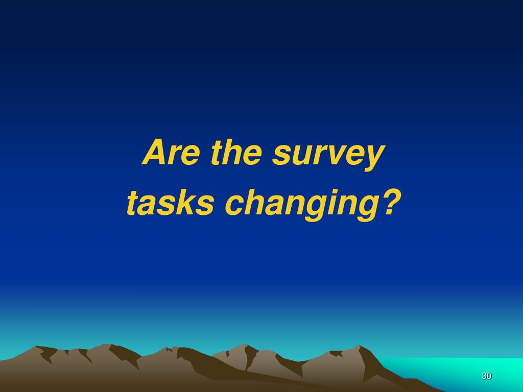 Are the survey