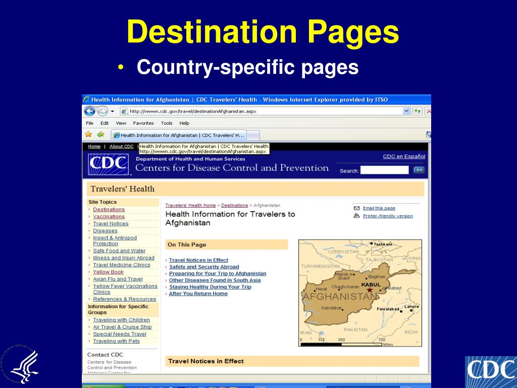 Destination Pages