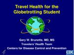 travel health for the globetrotting student