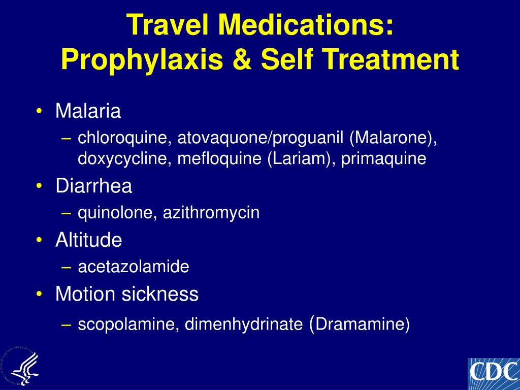Travel Medications: