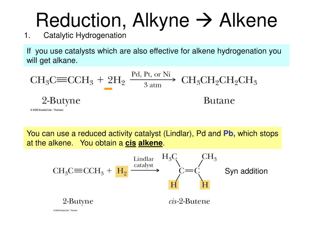 Reduction, Alkyne