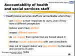 accountability of health and social services staff2